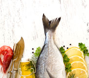 Fresh dorado fish Stock Photos