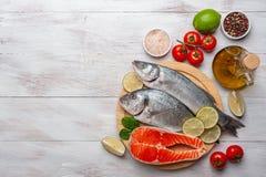 Free Fresh Dorado, Seabass, Salmon Fishes Stock Photography - 173637222