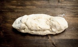 Fresh dough for pizza. royalty free stock photo