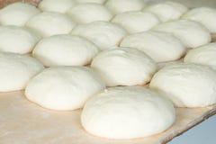 Fresh dough on the wooden board, pizza, Georgian bread. Shoti Stock Photos