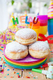 Fresh doughnuts for carnival Stock Images