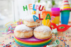 Fresh doughnuts for carnival Stock Image