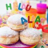 Fresh doughnuts for carnival Royalty Free Stock Photo