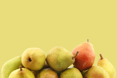 Fresh doyenne de comice pears Royalty Free Stock Images