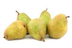 Fresh doyenne de comice pears Stock Images