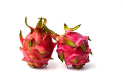 Fresh dragon fruit isolated on white background Royalty Free Stock Photography