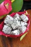 Fresh dragon fruit portion Royalty Free Stock Photo