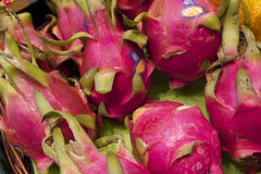 Fresh Dragon Fruit in Vancouver's Grandville Island Market Stock Photography