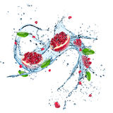Fresh dragon fruit with water splash. Royalty Free Stock Photography