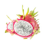 Fresh dragon fruit on white Royalty Free Stock Images