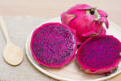 Fresh dragon fruit Royalty Free Stock Images