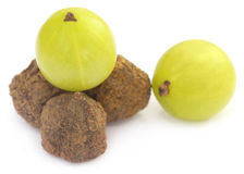Fresh and dried amla Royalty Free Stock Photos