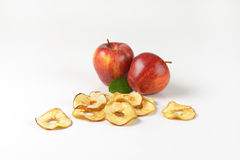 Fresh and dried apples Royalty Free Stock Image