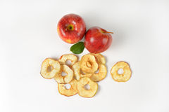 Fresh and dried apples Stock Image