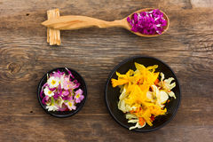 Fresh and dried flower petals Royalty Free Stock Photos