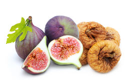 Fresh and dried fruit figs heap royalty free stock photo