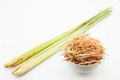 Fresh and dried lemongrass Stock Image