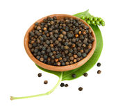 Fresh and dried peppercorn berries Stock Photos
