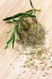 Fresh and dried rosemary Stock Photography