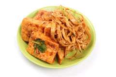 Fresh Dried tofu Stock Photo