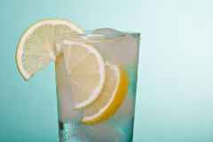 Fresh drink. In blue background Royalty Free Stock Photos