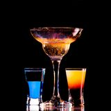 Fresh drink on black background Stock Photography