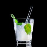 Fresh drink on black background Stock Photos