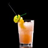 Fresh drink on black background Royalty Free Stock Images