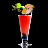 Fresh drink on black background Royalty Free Stock Image