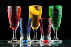 Fresh drink on black background Stock Image