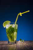 Fresh drink with citrus fruit Stock Image