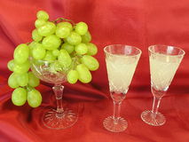 Fresh drink and grape Stock Images