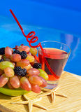 Fresh drink with grape and blackberries Royalty Free Stock Photography