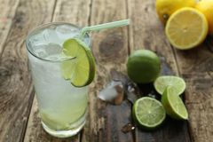 Fresh drink with lime Royalty Free Stock Photography