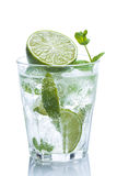 Fresh drink with lime and mint Royalty Free Stock Image