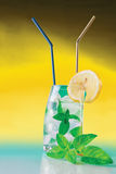 Fresh drink with mint and ice Stock Photography