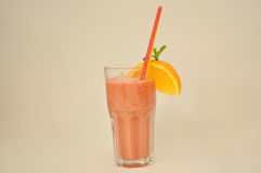 Fresh drink with orange Stock Images