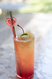 Fresh drink punch mocktail - party refreshment celebration fun c Royalty Free Stock Photos