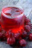 Fresh drink from Rosella or roselle fruit Royalty Free Stock Photography