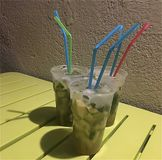 Fresh Drink in Sicily stock image