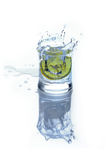Fresh drink - water with lime and ice Royalty Free Stock Photo