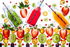 Fresh drinks with berries Royalty Free Stock Photography