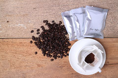 Fresh Drip coffee bean Royalty Free Stock Images