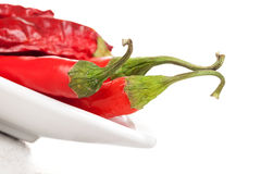 Fresh and dry chili pepper. Royalty Free Stock Photo