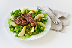 Fresh duck breast salad Royalty Free Stock Photos