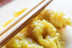 Fresh dumpling on plate with hot steams. Close up fresh dumpling on plate with hot steams Stock Photo