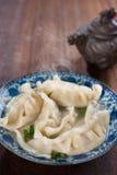 Fresh dumplings soup Stock Image