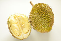 Fresh durian fruit. Durian (Durio zibethinus) is a tropical fruit native to Borneo, Indonesia and Malaysia - durian is considered the king of tropical fruit stock photos
