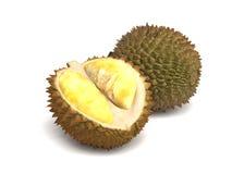 Fresh Durian Fruit Isolated on White Background Stock Photography