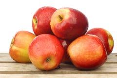 Fresh Dutch Jazz apples Royalty Free Stock Photos